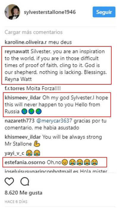 Comentarios a la foto de Sylvester Stallone