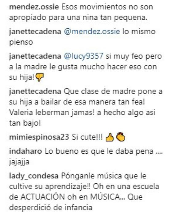 Comentarios sobre el baile de la hija de Cristian Castro