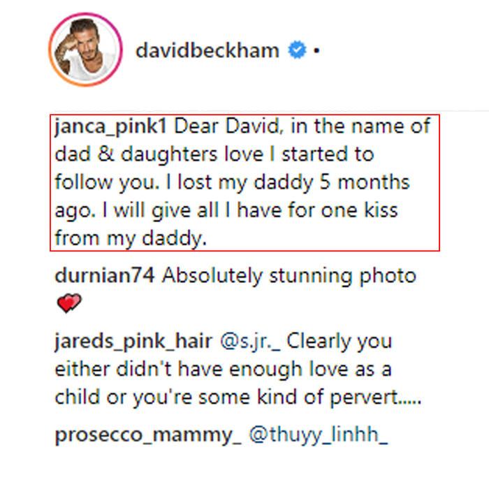 Comentarios sobre David Beckham