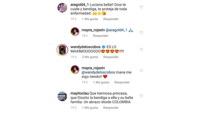 comentarios Mayra Rojas