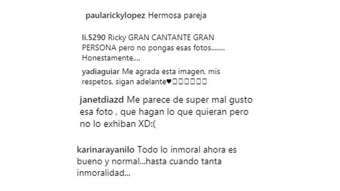 Comentarios Ricky Martin