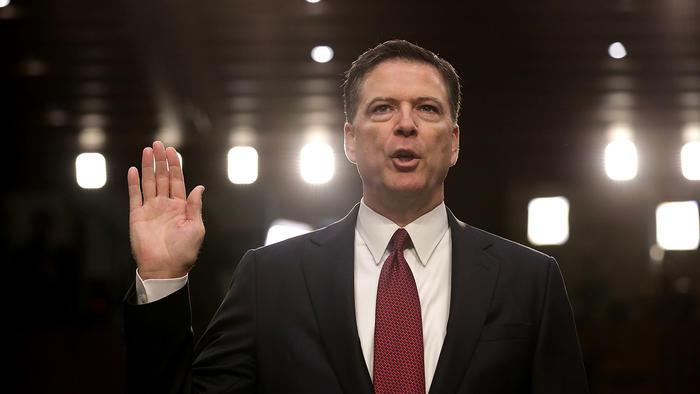 El ex director del FBI James Comey en el Capitolio en julio 2017 en Washington, DC.