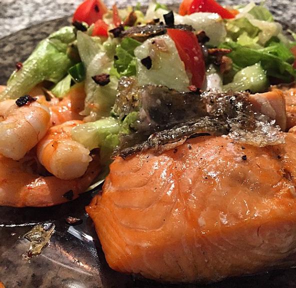 comida de sam smith en su instagram