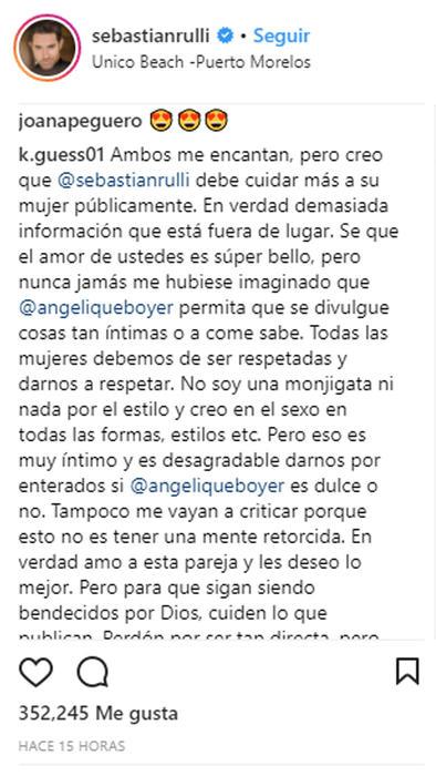 Critican a Sebastián Rulli