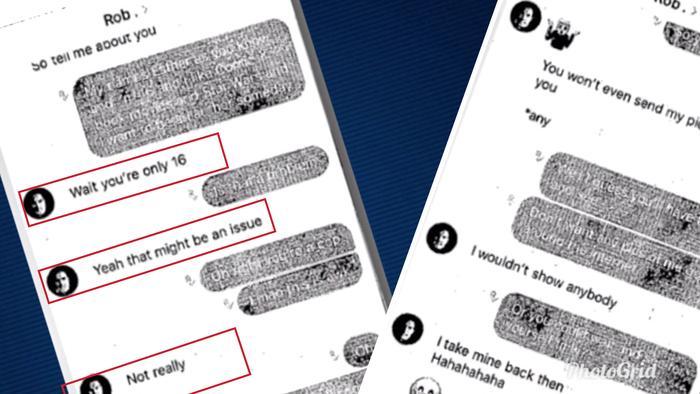 Supuestos mensajes de texto entre Ethan y el policía Robert Davies