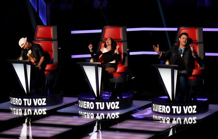 Daddy Yankee Natalia Jiménez y Pedro Fernández grabaciones La Voz Kids 2015