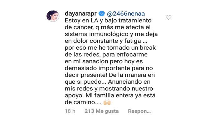 Dayanara Torres explica su estado de salud