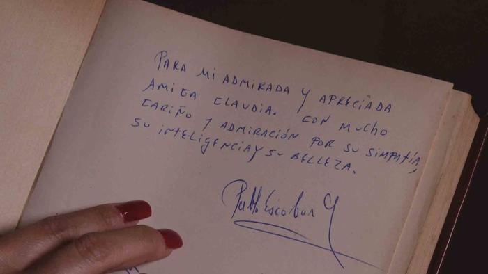 Dedicatoria de Pablo Escobar