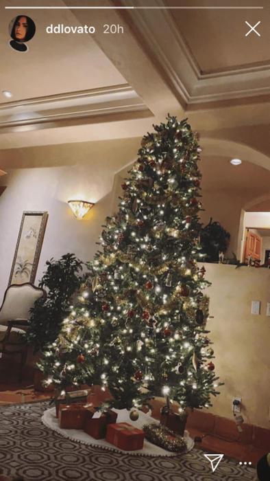 El árbol de Navidad de Demi Lovato