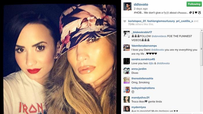 Demi Lovato y Jennifer Lopez