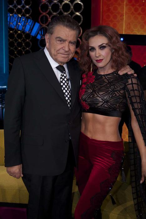 Aracely Arámbula y Don Francisco