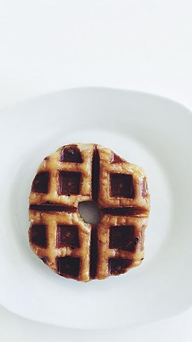 dona convertida en waffle