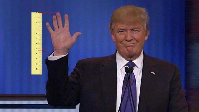 La mano de Donald Trump