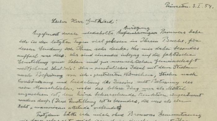 Carta de Albert Einstein que será subastada