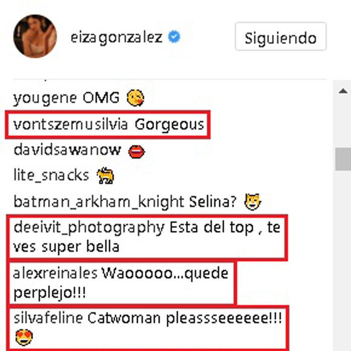 Eiza González comentarios