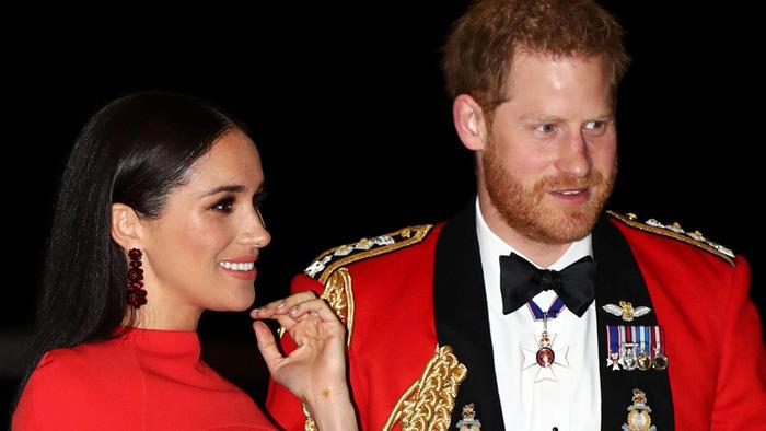 El Príncipe Harry y Meghan Markle en el Festival de Música Mountbatten en 2020 en Londres, Inglaterra