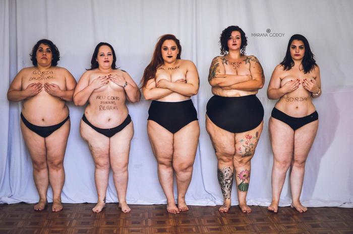 """Modelos en ropa interior en la serie de fotos """"Empoderarte me"""""""