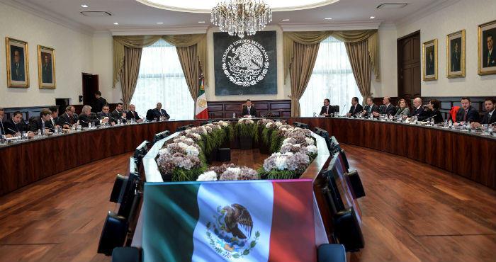 El Presidente Enrique Peña Nieto en reunión con su Gabinete.