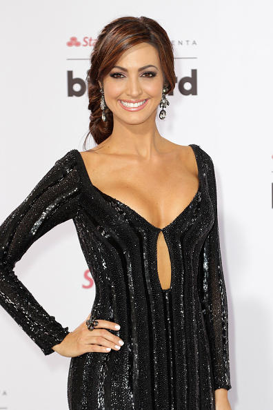 Erika Csiszer en la alfombra roja de los Premios Billboard de la Música Latina