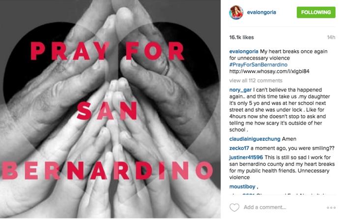 Eva Longoria reacciona al tiroteo de San Bernardino