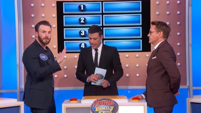 """Los Avengers juegan """"Family Feud"""" en el programa de televisión de Jimmy Kimmel"""