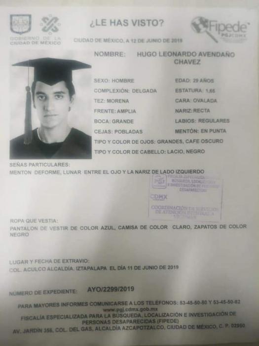 Hugo Leonardo Avendaño Chávez,