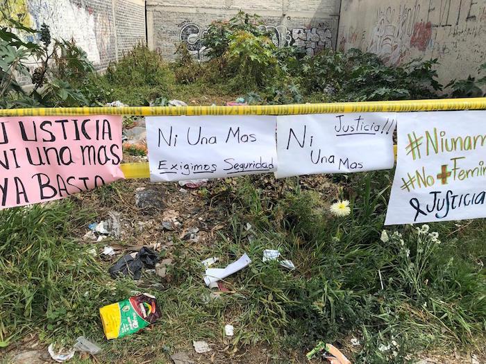 El lote baldío donde hallaron restos de las víctimas.