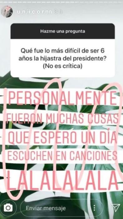 Fernanda Castro mensaje Instagram