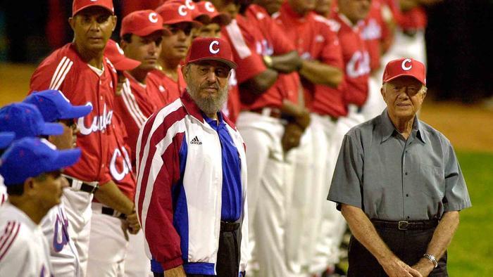 Fidel Castro y Jimmy Carter en el Estadio Latinoamericano