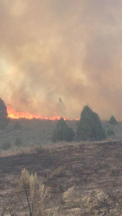 figura en el incendio