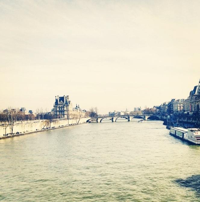 Foto del rio Sienne en París, publicada en el instagram de Elizabeth von Thruns Und Taxis