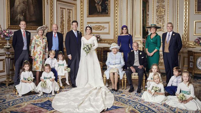 Foto oficial de la boda de Eugenia de York