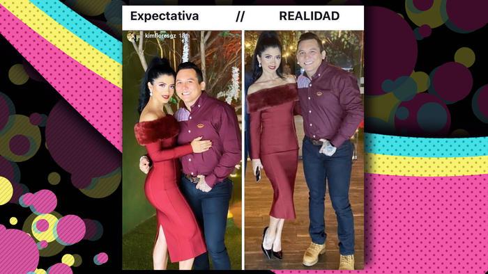 Kimberly Flores y Edwin Luna photoshop