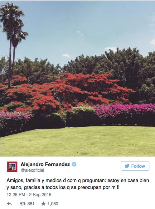 Mensaje de Alejandro Fernandez