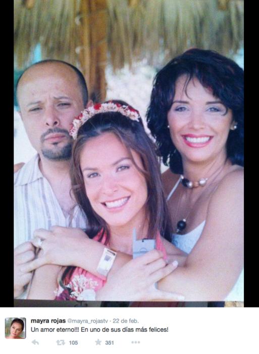 Foto de Lorena y Mayra Rojas en Twitter