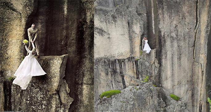Fotógrafo se destaca por sus fotos extremas de boda