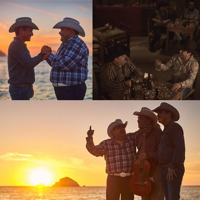 Fotos en grabaciones de la canción El Guitarrero con El Coyote y Julión Álvarez foto de Instagram 2016