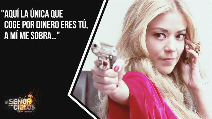 Fernanda Castillo, Mónica Robles, armada, El Señor de los Cielos