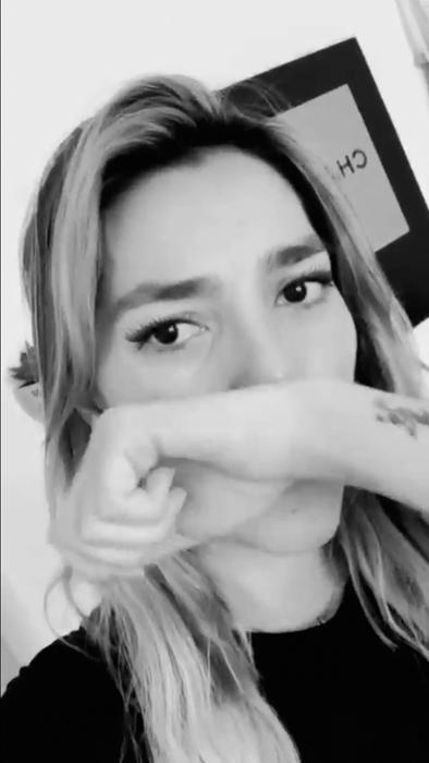 Frida Sofía llora en Instagram