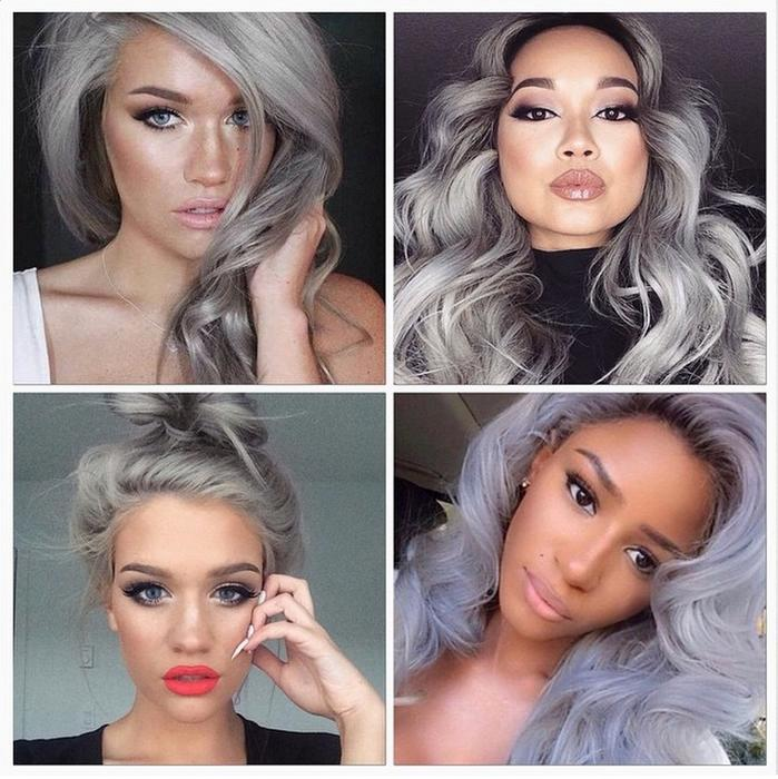Tendencia de cabello gris en instagram de @frisorlyhne