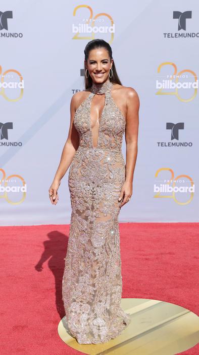 Gaby Espino en alfombra roja de Premios Billboard 2018