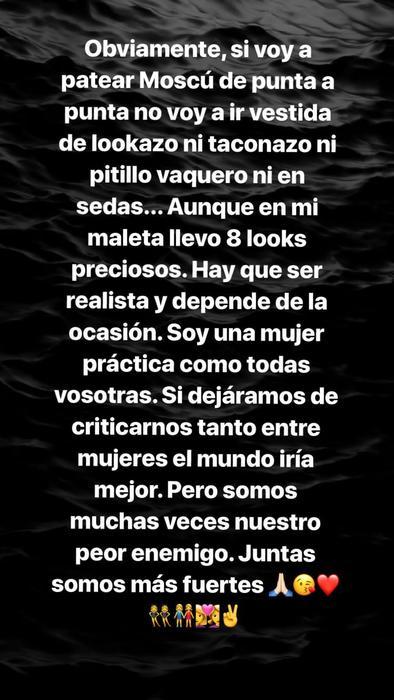 Respuesta de Georgina Rodríguez ante las críticas