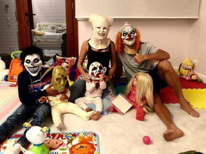 Georgina Rodríguez con su familia