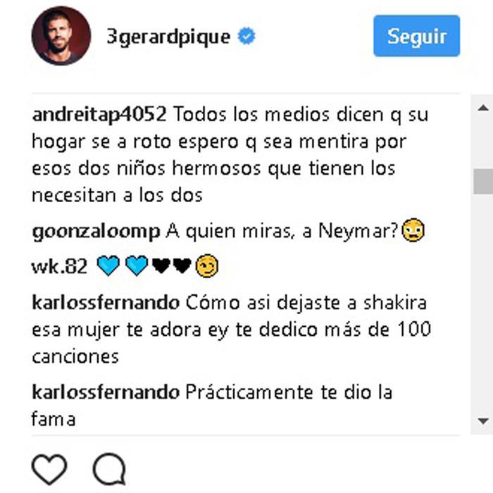 Gerard Piqué comentarios