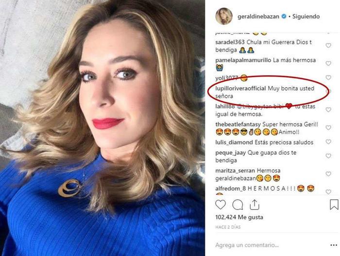 Lupillo Rivera comenta foto de Geraldine Bazán