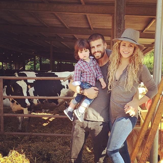 Shakira, Gerard Piqué, Milan, en la granja