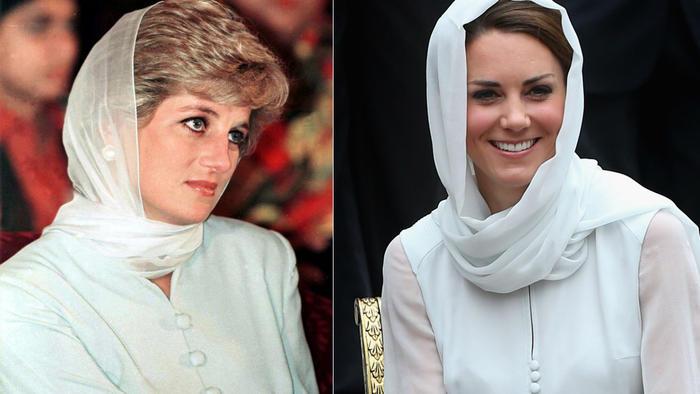 Princesa Diana y Kate Middleton