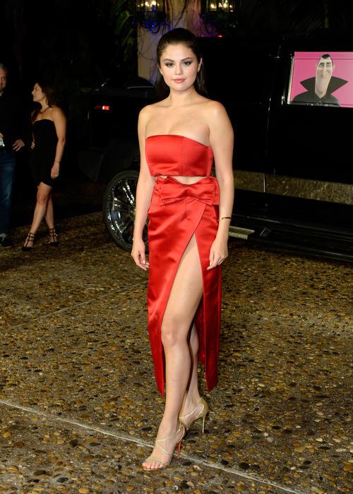 Selena Gomez en la fiesta de Sony para la película Hotel Transylvania 2
