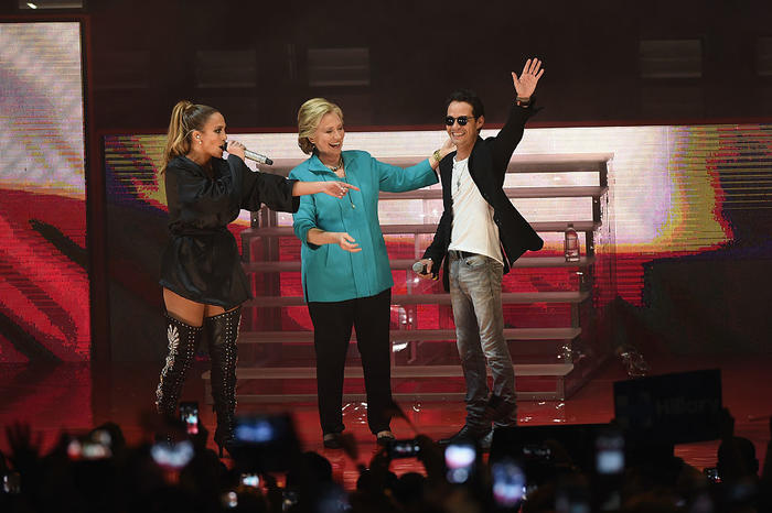 Marc Anthony at the Jennifer Lopez Gets Loud For Hillary Clinton At GOTV Concert In Miami