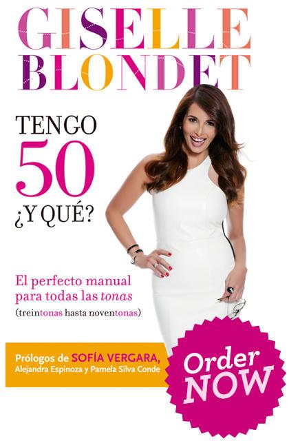 """Giselle Blondet publica su segundo libro """"Tengo 50... ¿Y Qué?"""""""